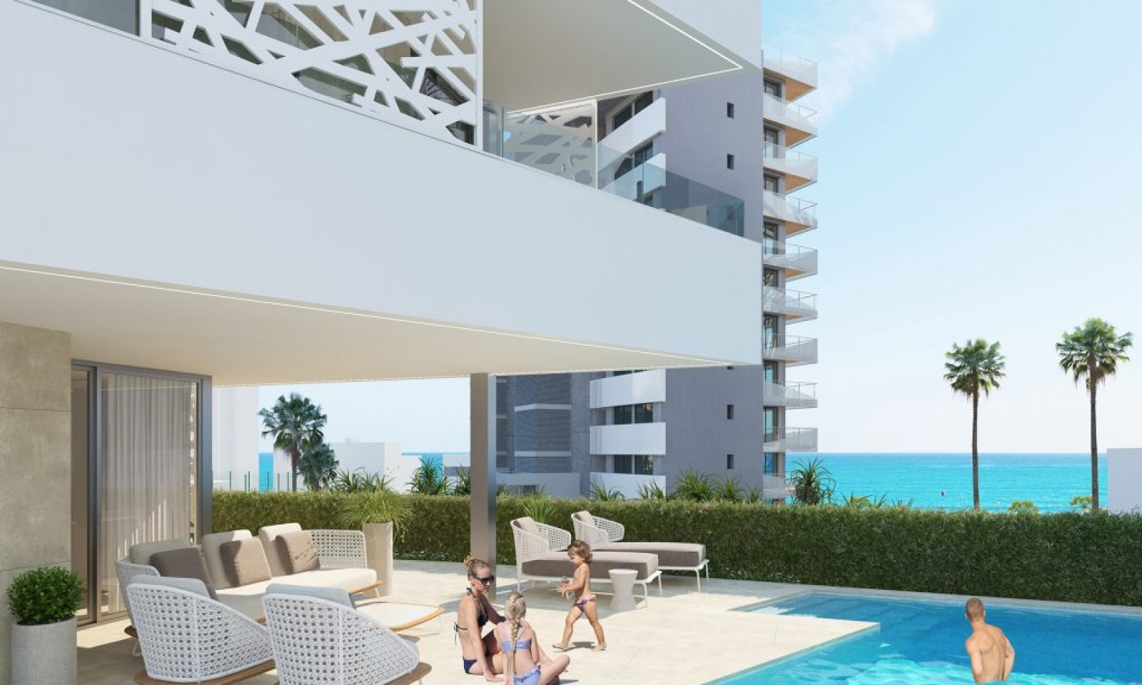 We are delighted to present SIDI villas in playa San Juan, Alicante. The project will be launched in late spring 2021. It is a project of exclusive independent villas. Our builder is doing everything to make your life as relaxed as possible for you to enjoy. They are even offering services as keyholding service, home cleaning, home maintenance and garden maintenance. Playa San Juan is an excellent location with beaches, golf courses and nature around. This beautiful villa has three bedrooms and four bathrooms. The ground floor is designed with an open plan between the kitchen and the spacious living room with access to the terraces all around. On the first floor you find two master bedrooms en-suit with their own walk in closets as well. One of the master bedrooms also have their own balcony. An additional guestroom and an additional bathroom. There is also a multipurpose room that you can use as a second living room. In the basement you have your own garage with room for three vehicles with pre-installation for electric charge of course. The villa comes with a private garden, a pool and a big terrace where you can sit back and relax and enjoy the view of the ocean and the sunset. Please contact us for more information and you are one step closer to your dream house!